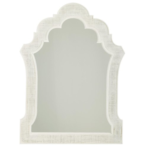 Tommy Bahama Home Ivory Key Sandys Mirror with Woven Raffia Frame