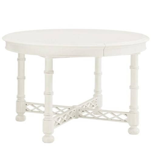 Tommy Bahama Home Ivory Key Knapton Hill Dining Table with Diamond Lattice Base