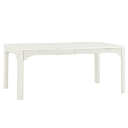 Tommy Bahama Home Ivory Key Rectangular Castel Harbour Dining Table with Parson Legs