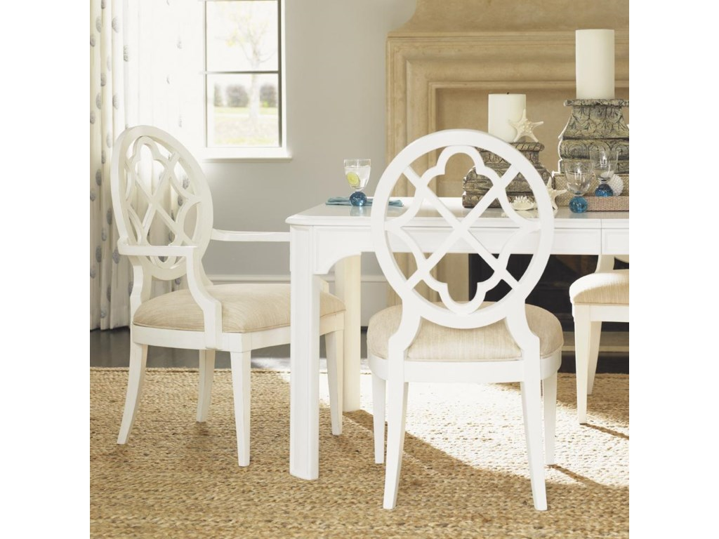 Shown with Mill Creek Side Chairs and Castel Harbour Dining Table