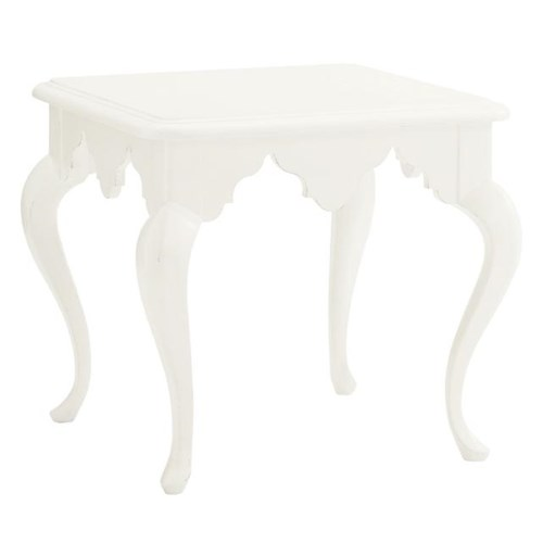 Tommy Bahama Home Ivory Key Cumberland Square Lamp Table with Moroccan Style Apron