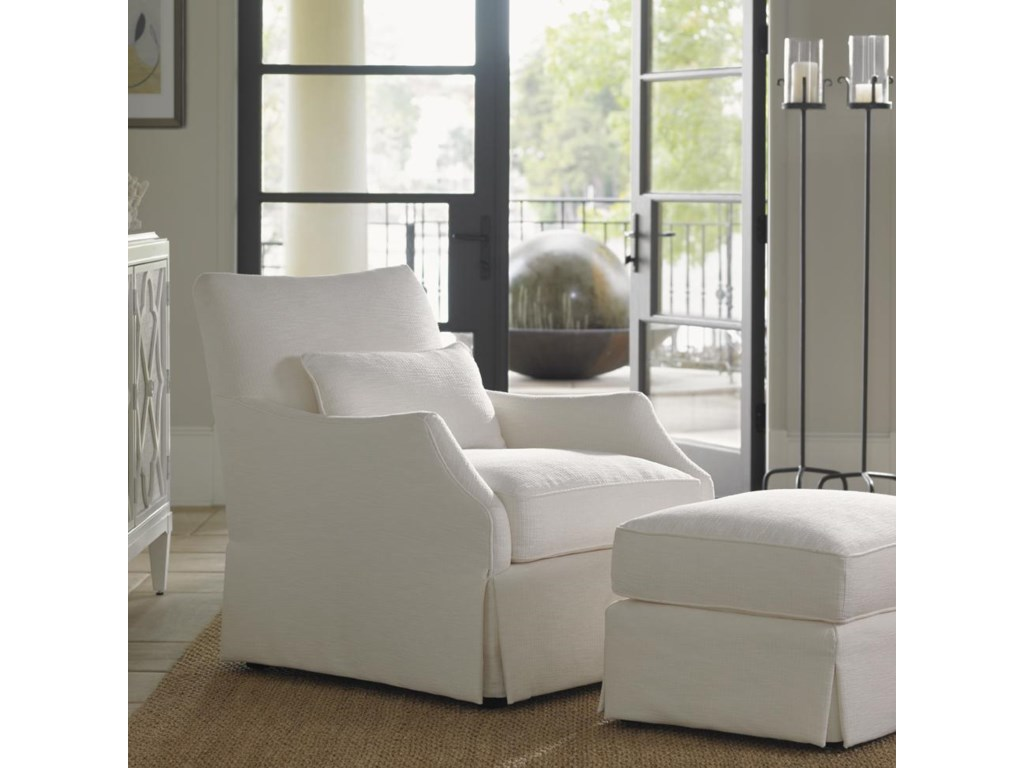 Shown with Crystal Caves Ottoman