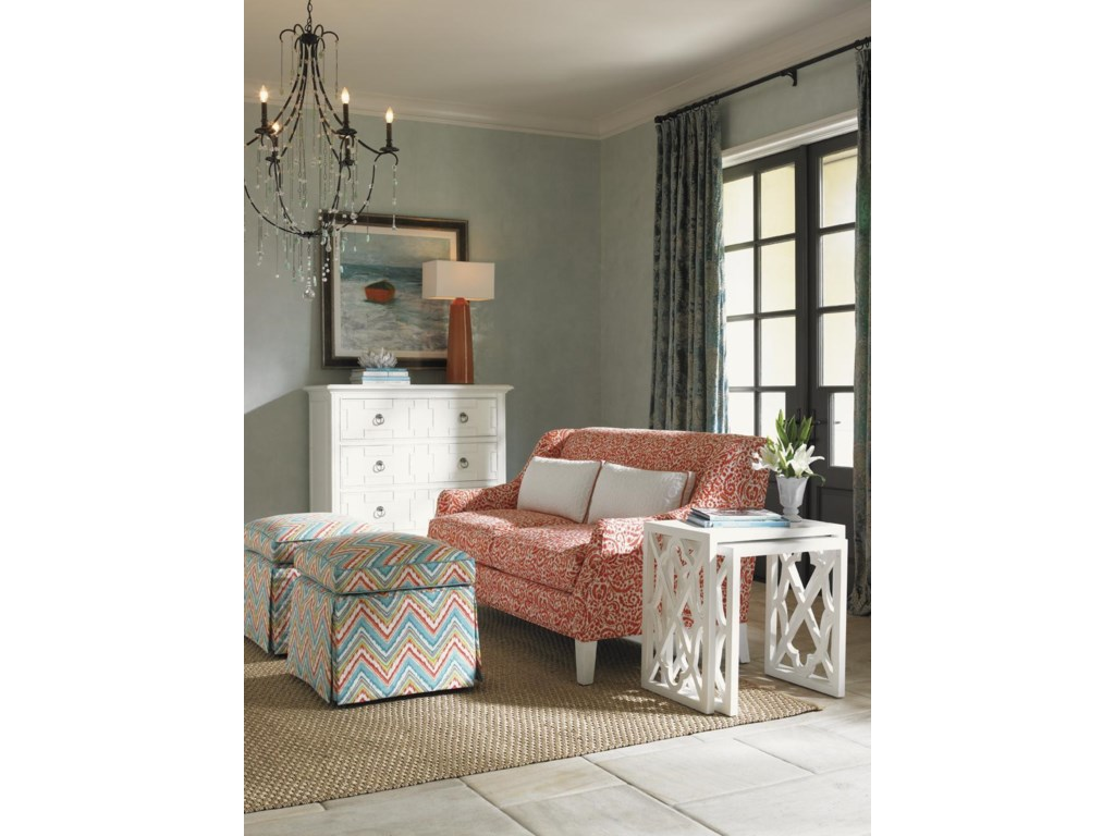 Shown with Sofia Love Seat,and Stovell Ferry Nesting Tables