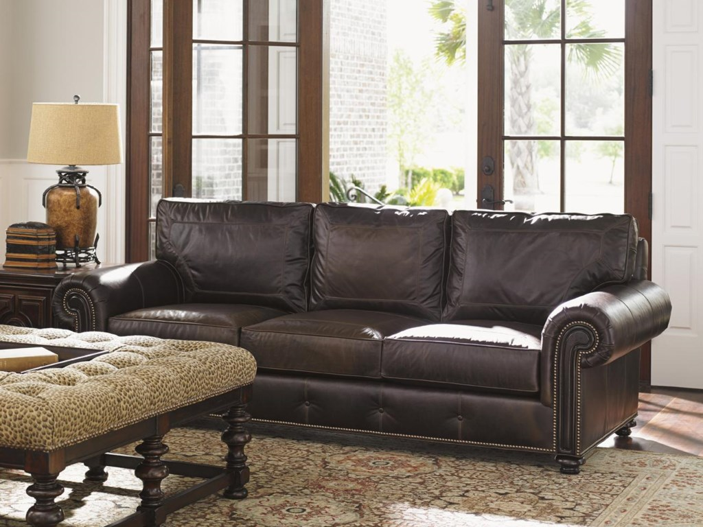 Tommy Bahama Living Room Furniture Tommy Bahama Home Kilimanjaro Riversdale Sofa With Rolled Exposed
