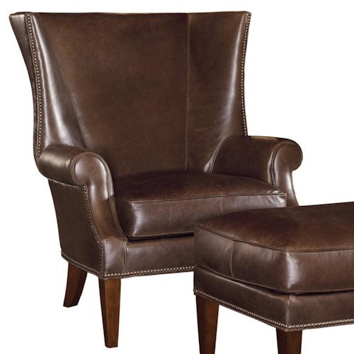 Tommy Bahama Home Kilimanjaro Marissa Wing Chair with Tight-Rolled Arms and Nailhead Border