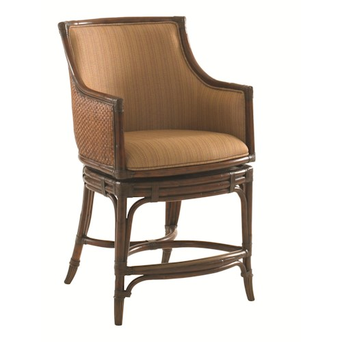 Tommy Bahama Home Landara Oceana Quickship Swivel Counter Stool