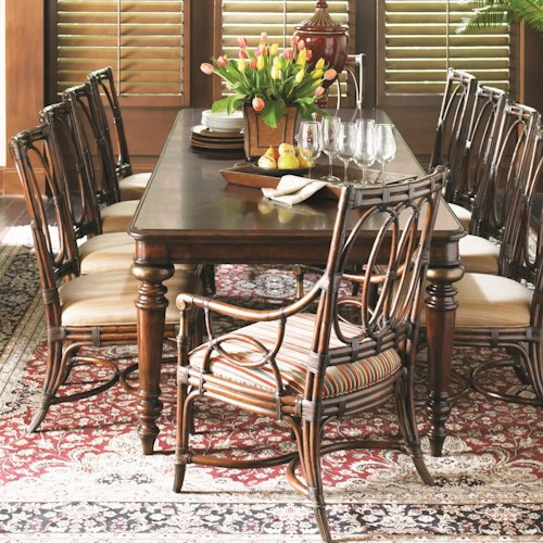 Tommy Bahama Home Landara 11 Piece Pelican Hill Dining Set with Palmetto Chairs
