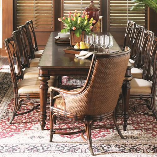 Tommy Bahama Home Landara 11 Piece Pelican Hill Dining Set with Palmetto and Royal Palm Chairs