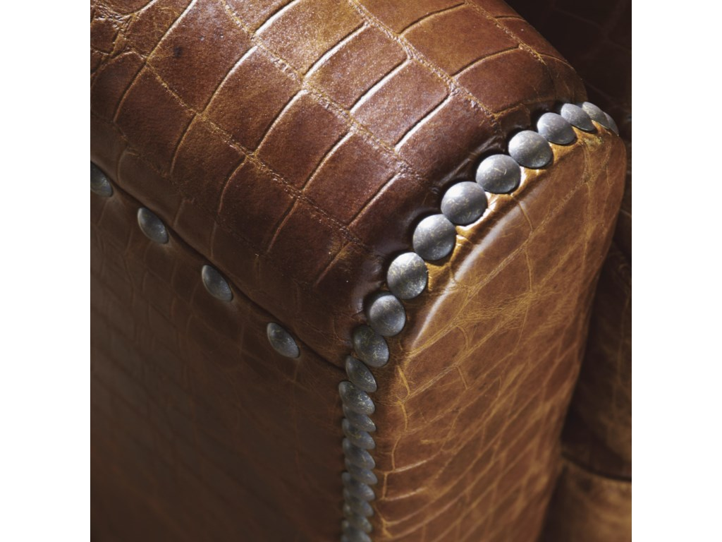 Decorative Nailhead Trim Accents the Clean Lines of the Chair