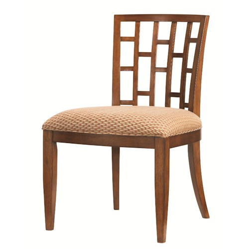 Tommy Bahama Home Ocean Club <b>Quick Ship</b> Lanai Side Chair with Geometric Pattern