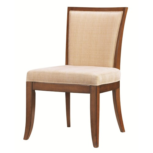 Tommy Bahama Home Ocean Club <b>Quick Ship</b> Kowloon Side Chair with Horizontal Slats