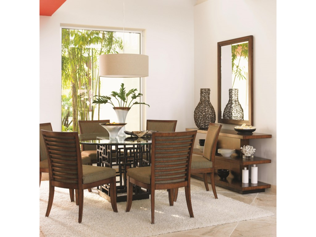 Shown with South Sea Round Glass Table, Somerset Mirror, and Lagoon Sofa Table