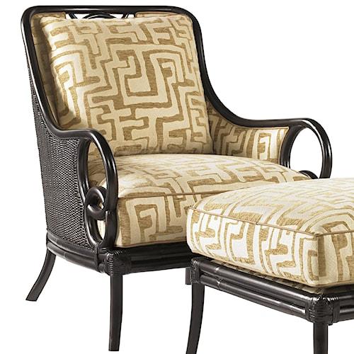 Tommy Bahama Home Royal Kahala Sumatra Exposed Wood Chair with Decorative Back Cutout