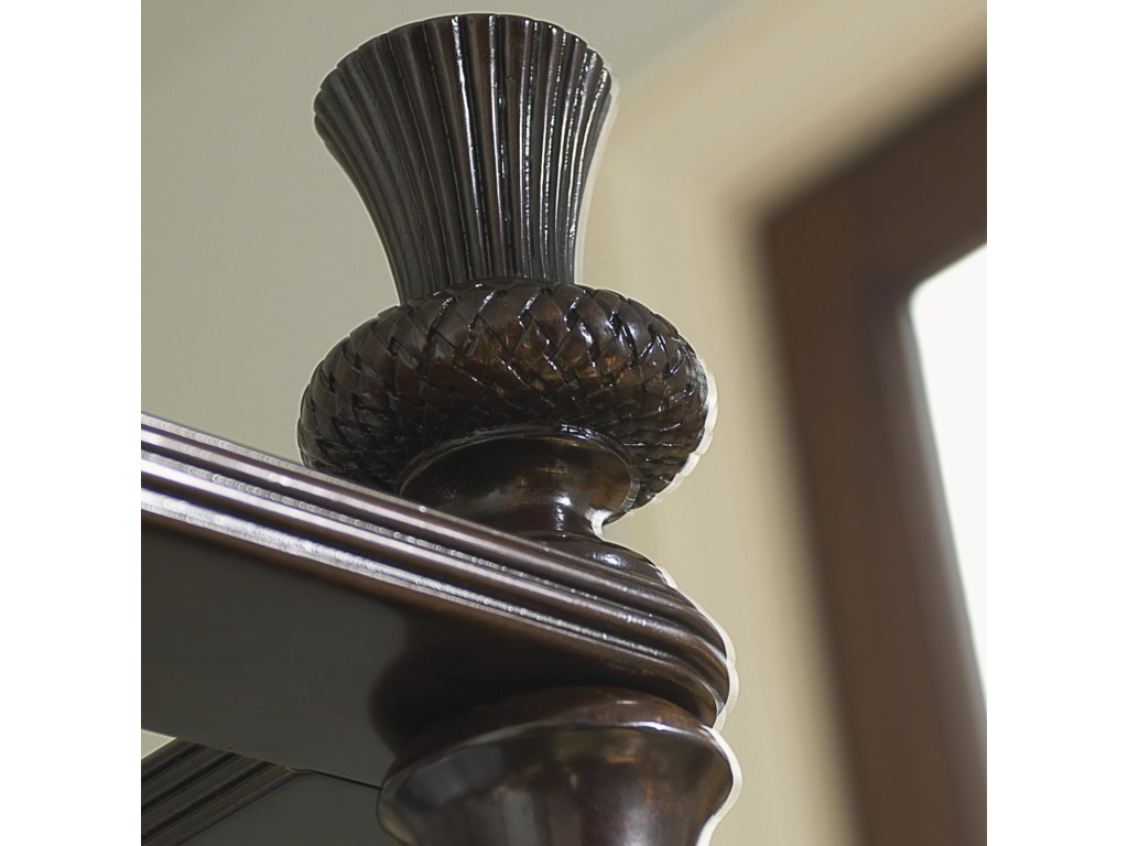 Classic Thistle Finials Crown the Bedposts
