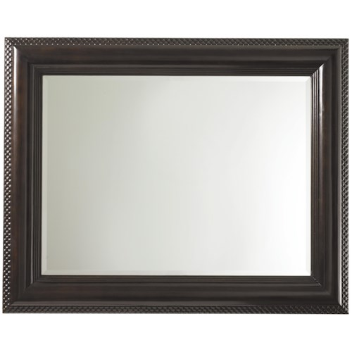 Tommy Bahama Home Royal Kahala Landscape Mirror with Textured Frame