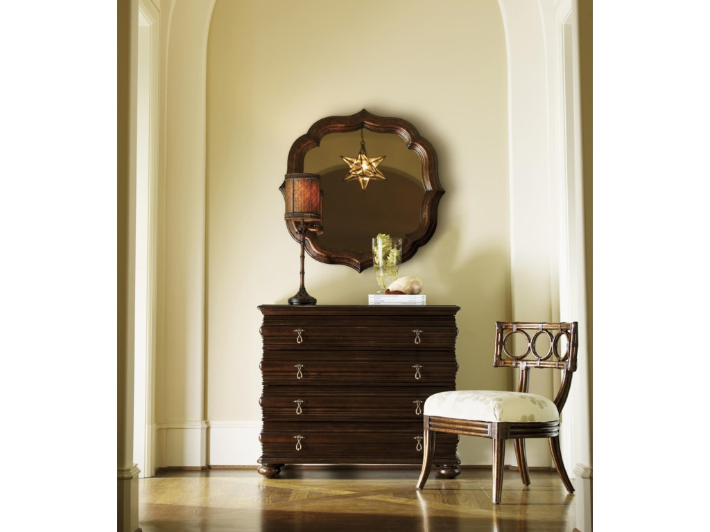 Shown with Lotus Blossom Mirror and Koa Chair