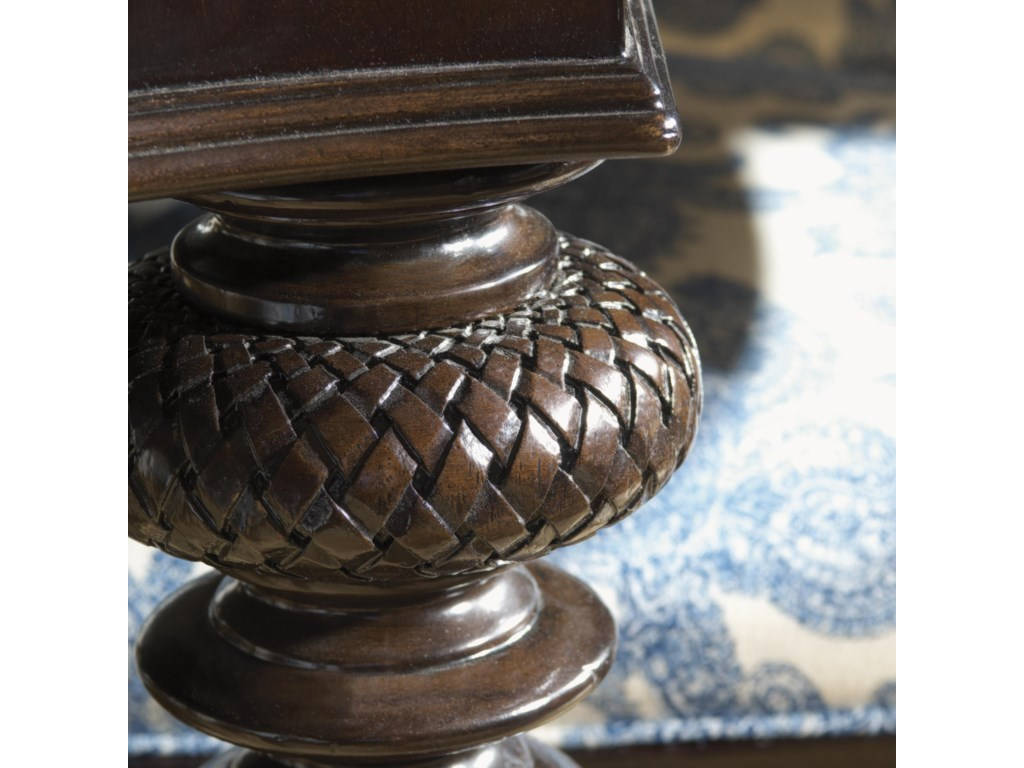 Detailed Carving Accent the Traditional Turned Legs