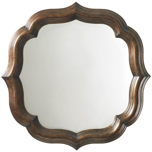 Tommy Bahama Home Royal Kahala Lotus Blossom Mirror