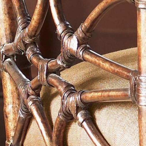 Rattan and Leather Binding Detail
