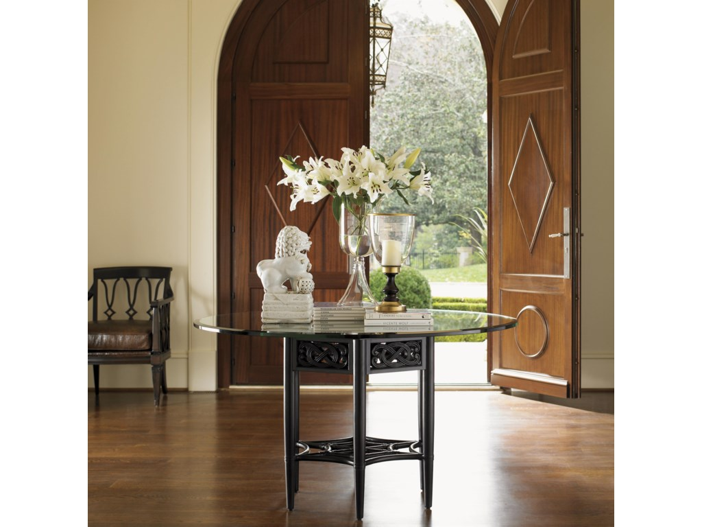 Use as a Welcoming Center Table in the Entry of Your Home - Shown with Ginger Leather Chair