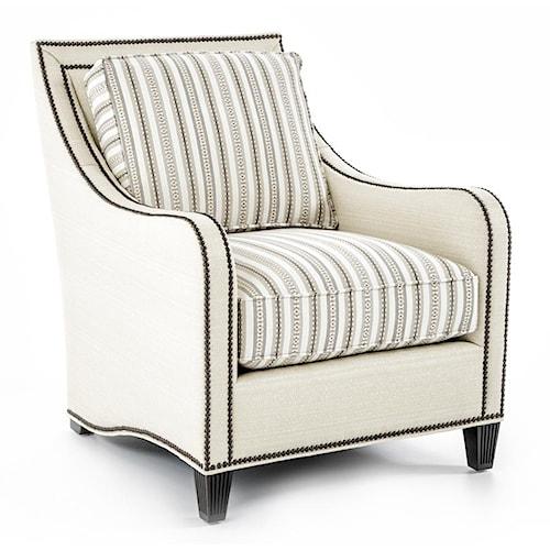 Tommy Bahama Home Royal Kahala Koko Raffia Chair with Contrasting Cushions
