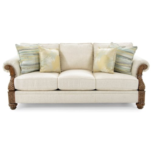 Tommy Bahama Home Tommy Bahama Upholstery Benoa Harbour Loose Back Sofa