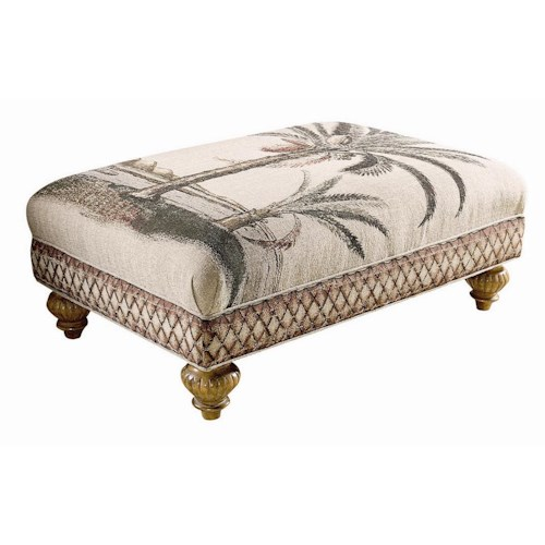 Tommy Bahama Home Tommy Bahama Upholstery Bahia Tight Top Ottoman
