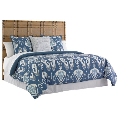 Tommy Bahama Home Twin Palms King Size Coco Bay Woven Raffia Headboard