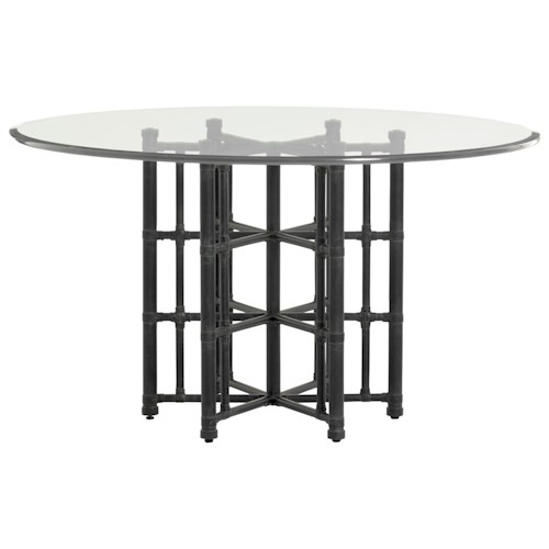 Tommy Bahama Home Twin Palms Stellaris Round Dining Table with 54