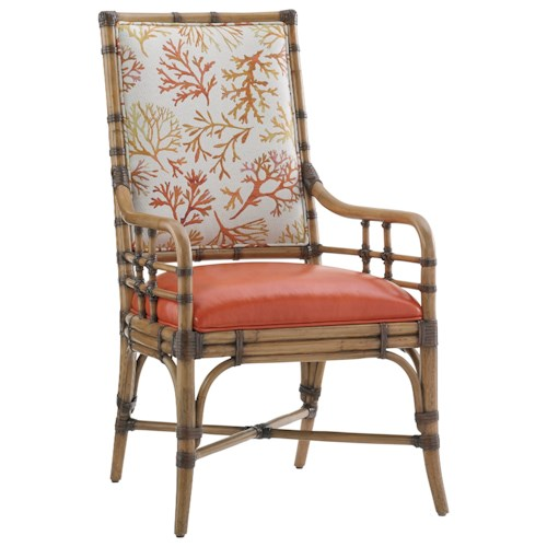 Tommy Bahama Home Twin Palms Customizable Summer Isle Arm Chair