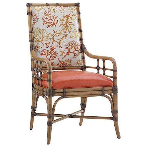 Tommy Bahama Home Twin Palms Customizable Summer Isle Arm Chair