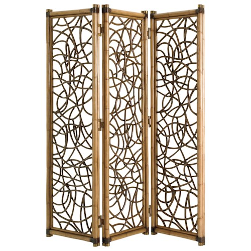 Tommy Bahama Home Twin Palms Exuma Woven Rattan Screen