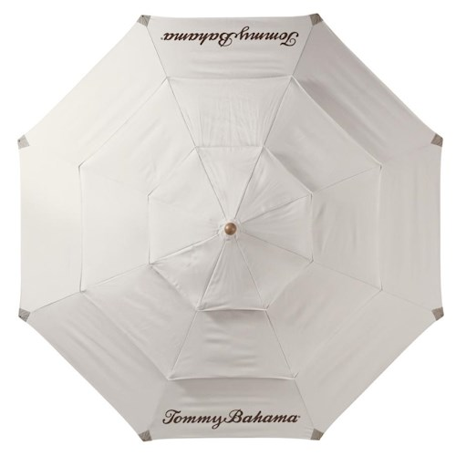 Tommy Bahama Outdoor Living Alfresco Living Canvas Umbrella with Wood Pole