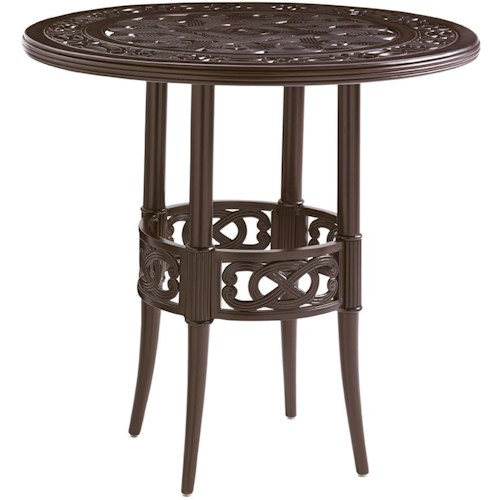 Tommy Bahama Outdoor Living Black Sands Outdoor High/ Low Bistro Bar Table with Elegant Design