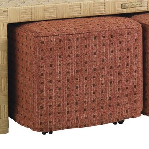 Tommy Bahama Outdoor Living Canberra Surf & Sand Tropical Outdoor Square Cocktail Ottoman