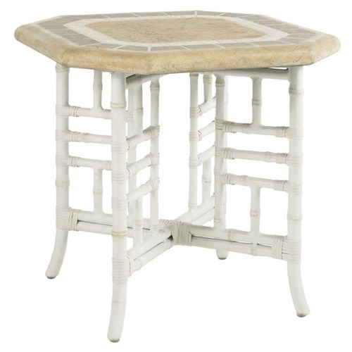 Tommy Bahama Outdoor Living Island Estate Hamptons Outdoor Side Table with Octagonal Top