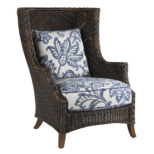 Tommy Bahama Outdoor Living Island Estate Lanai Outdoor Woven Wicker Wing Chair