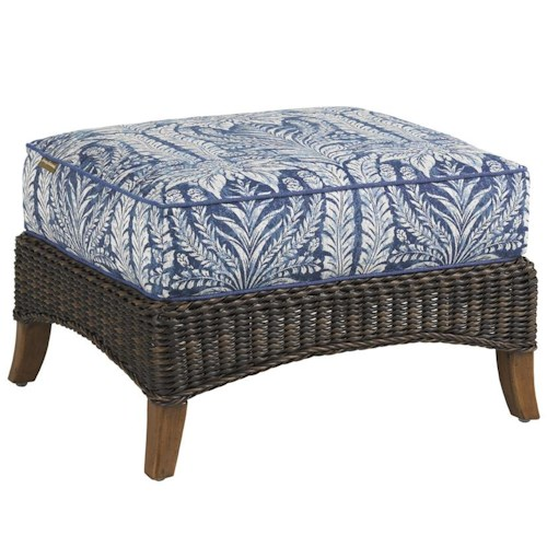 Tommy Bahama Outdoor Living Island Estate Lanai Outdoor Woven Wicker Ottoman