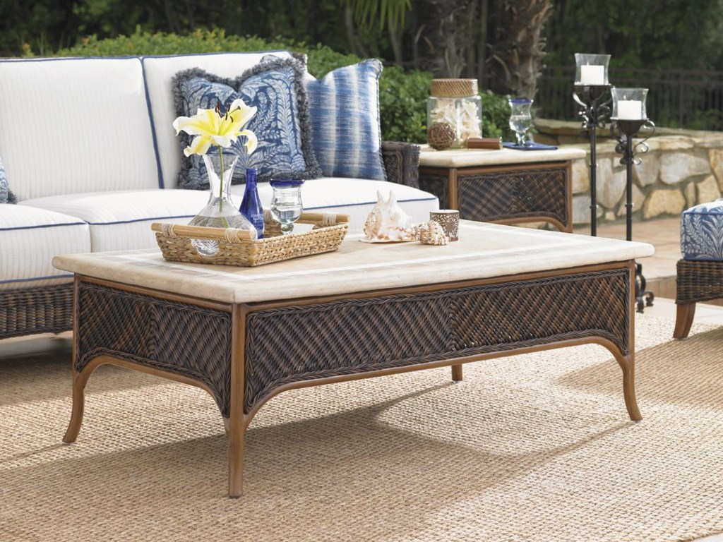 Shown with Boxed Edge Outdoor Sofa and Accent Table