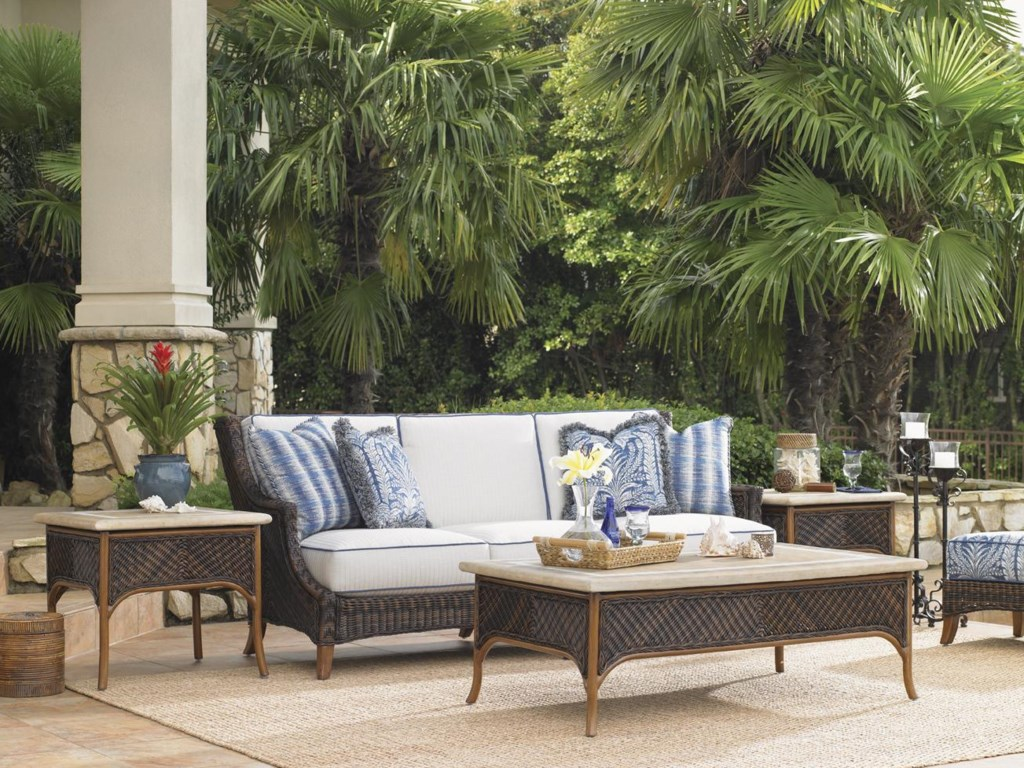 Shown with Outdoor Boxed Edge Sofa and Cocktail Table
