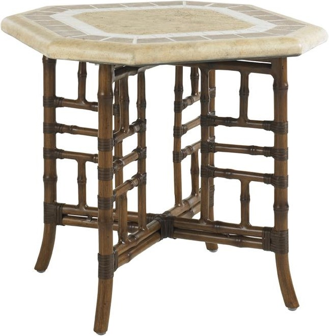 Side Table with Weatherstone Table Top