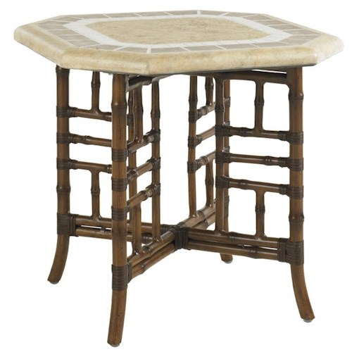 Tommy Bahama Outdoor Living Island Estate Veranda Outdoor Side Table with X Base