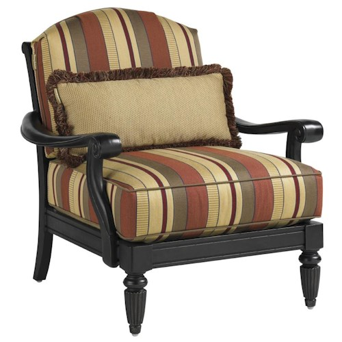 Tommy Bahama Outdoor Living Kingstown Sedona Lounge Chair with Turned Legs