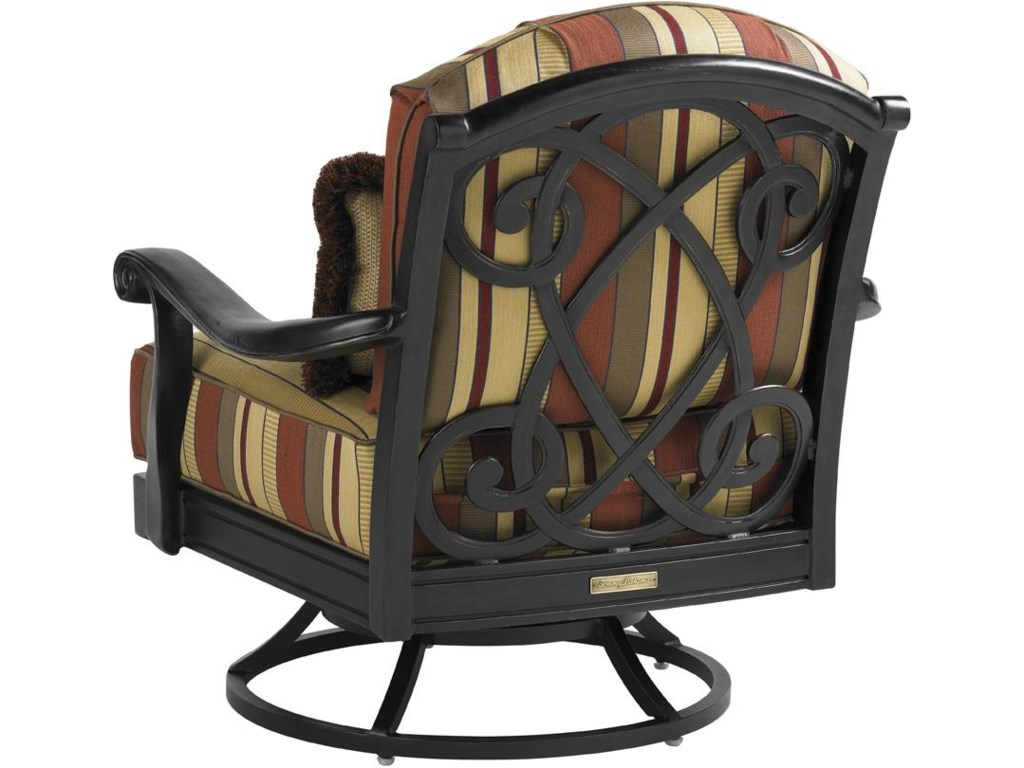 Back View of Swivel Lounge Chair