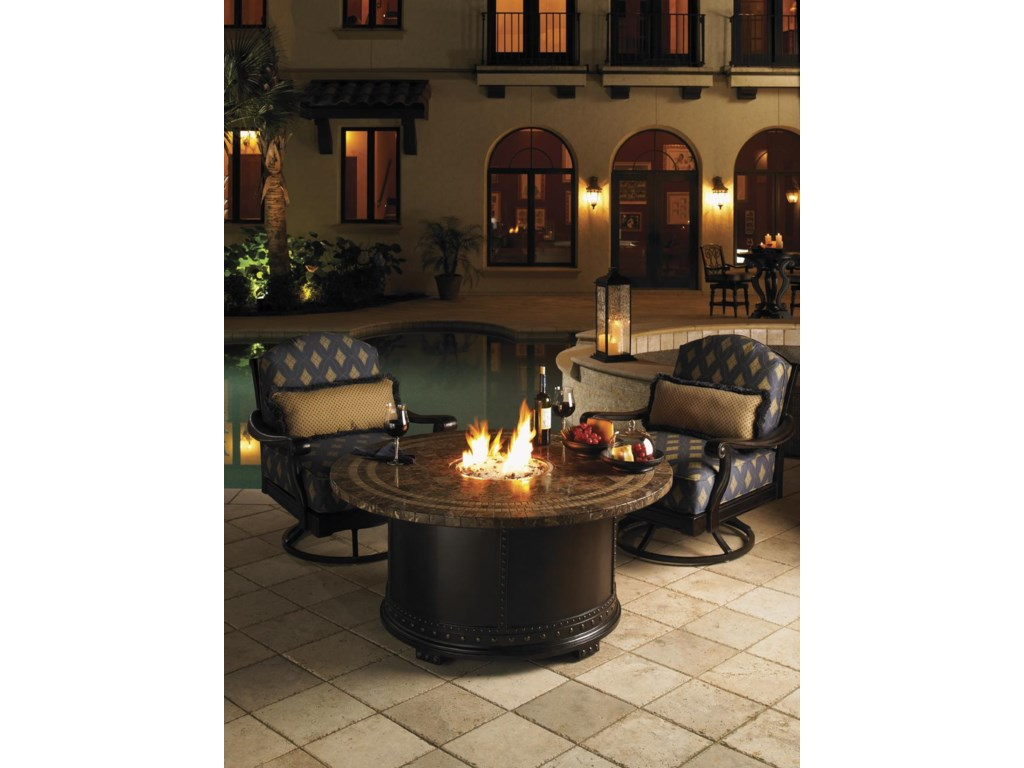 Shown with Marble Gas Fire Pit