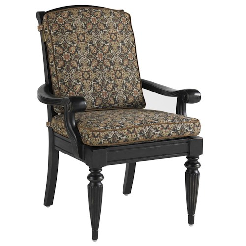 Tommy Bahama Outdoor Living Kingstown Sedona Dining Arm Chair with Scroll Arms