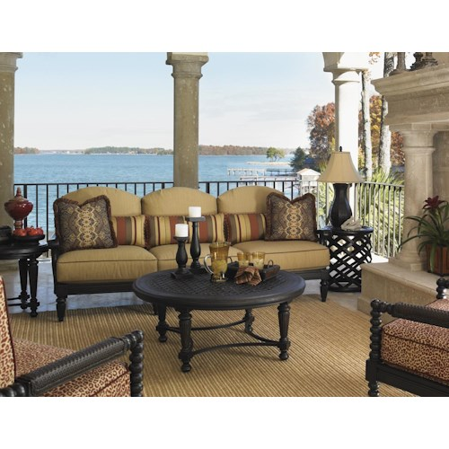 Tommy Bahama Outdoor Living Kingstown Sedona 6 Piece Conversation Set with Round Cocktail Table
