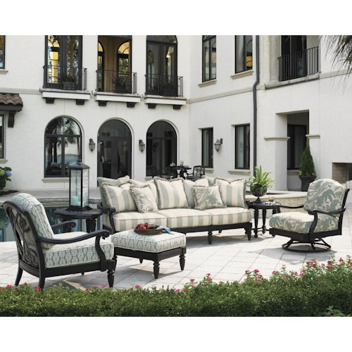 Tommy Bahama Outdoor Living Kingstown Sedona 6 Piece Patio Set with Scatterback Sofa