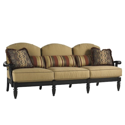 Tommy Bahama Outdoor Living Kingstown Sedona 3 Seat Sofa with Scroll Arms