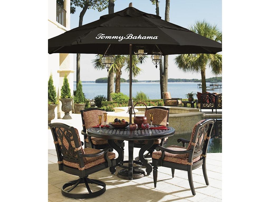 Black Umbrella Featured in Alfresco Living Collection